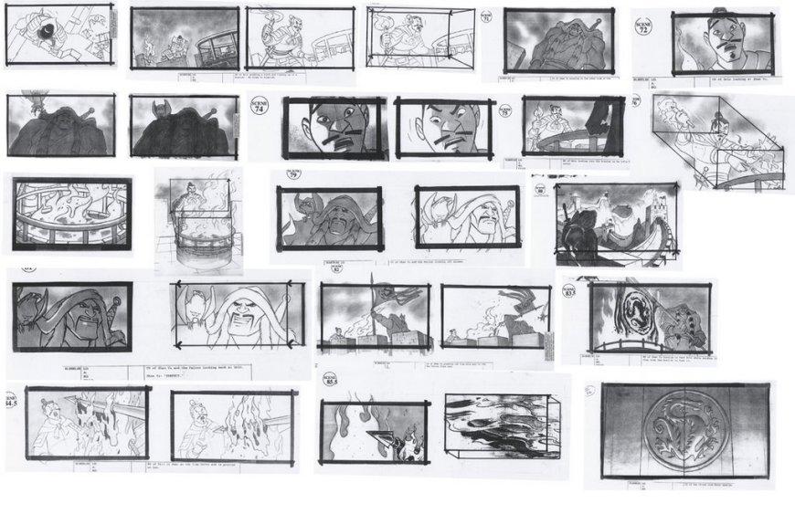 Disney Mulan Storyboards