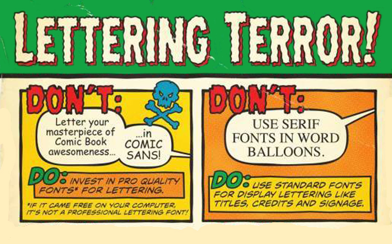 Lettering Terrors